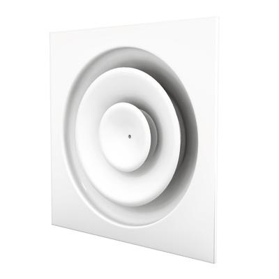 Deckenluftdurchlass CE100P für die Rasterdeckensysteme in der Nenngröße 594 mm