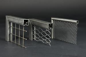 Einfassprofile für Wellengitter, PS-Gitter und Streckmetall