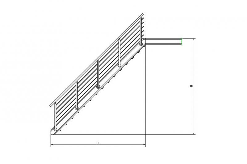 schnellbautreppen treppenbausatz gitterroststufe rotec profi shop. Black Bedroom Furniture Sets. Home Design Ideas