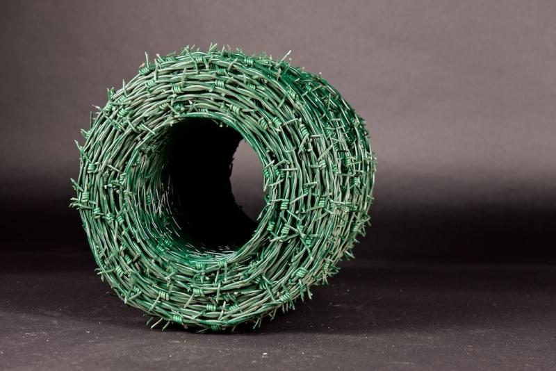 Stacheldraht, verzinkt - grün, 200m (lfdm.) - rotec Profi-Shop
