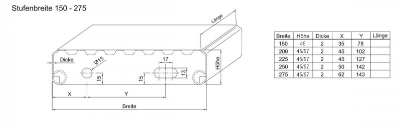 Profilrost Treppenstufe Rotec R13 1200x275x57x2 Mm Rotec Profi Shop
