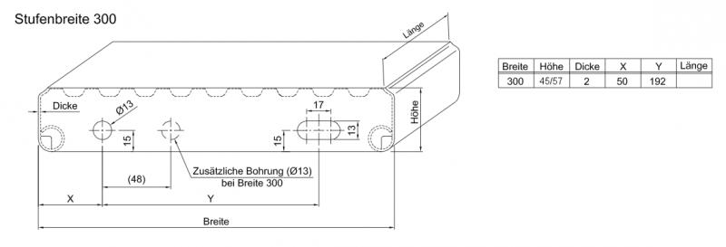 Profilrost Treppenstufe Rotec R13 1000x300x45x2 Mm Rotec Profi Shop