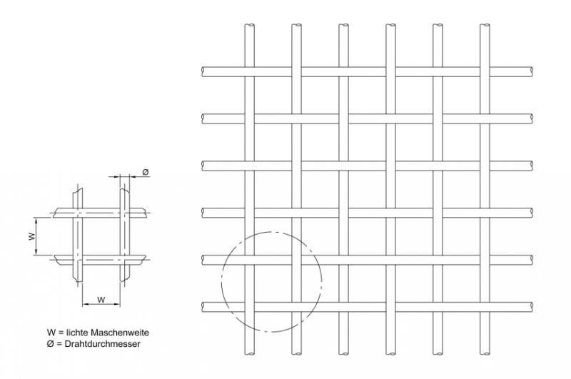 rotec-Wellengitter, vorverzinkte Drähte 10 x 10 x 2,0 mm, 1000 x ...