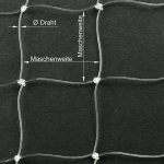 Perlondrahtnetz transparent, Masche: 20 × 20 mm, Breite: 2 m, Ø Draht: 0,4 mm