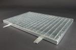 Fußabtrittrost <U>590</U> x 1190 mm, Masche: 31/9 mm, Tragstab: 20/2 mm, feuerverzinkt inkl. Rahmen