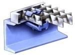 Halteklammer für Gitterroste<br>Für Maschenweite 31/31 mm - Stahl feuerverzinkt