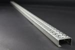 Leitersprosse Rund, Stahl roh 1980x55x30x2 mm