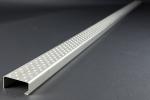 Schwimmbadleitersprosse 2000x64x30 aus Edelstahl V4A / 1.4404 ohne Aussparung