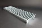 rotec-EP-Gitterroststufe, feuerverzinkt 1200 x 195 mm, Ma 31/31 mm, Ts 40/2 mm