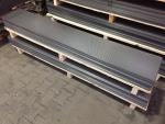 Lochblechzuschnitt aus Rv 5-8 mm - Maße: 2000 x 350 x 1,0 mm (Stahl roh)