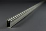 Einfassprofil Typ E 1.7 (rechteckig) - 20 × 30 mm, 3000 mm lang - aus Edelstahl 1.4301, Korn 240 geschliffen