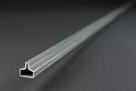 Einfassprofil Typ C (rechteckig) - 20 mm breit, 3000 mm lang - aus Stahl, sendzimirverzinkt