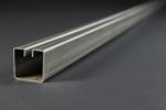 Einfassprofil für Wellengitter, Typ 4, Stahl sendzimirverz., 3000 × 40 × 40 mm, Schlitzbreite 7,5 mm