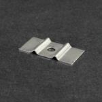 Befestigungsplättchen aus Edelstahl 1.4301, Beutel à 100 Stück, Loch: Ø 5 mm